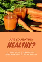橙色拼接健康主题海报