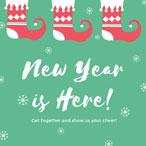 绿色圣诞节卡通海报