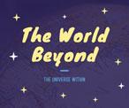 紫色卡通星空主題海報