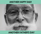 灰色父亲节主题贺卡
