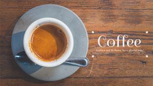 褐色咖啡主题封面