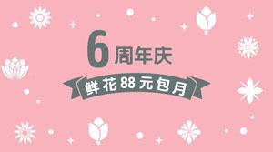 简约花店周年庆促销活动
