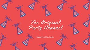 红色聚会主题封面