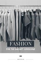 灰色时尚服装主题海报