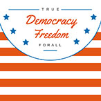 条纹美国独立日主题海报