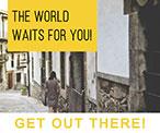 褐色旅游主题街拍海报