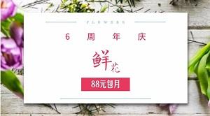 简约鲜花店周年庆典促销活动