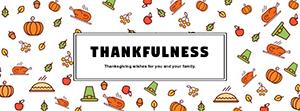 白色感恩节主题封面