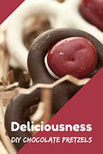 红色浪漫巧克力饼干海报