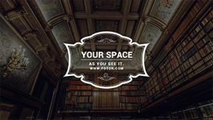 褐色图书馆主题封面