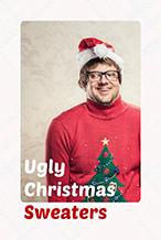 红色创意圣诞节主题海报