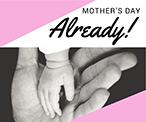 粉色母亲节祝福主题海报