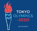 蓝色东京奥运会海报